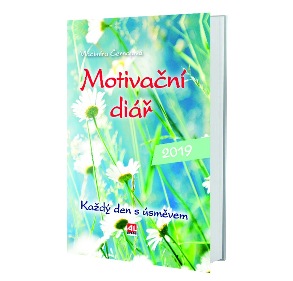 Kniha Motivační diář 2019 v našem nakladatelství Alpress