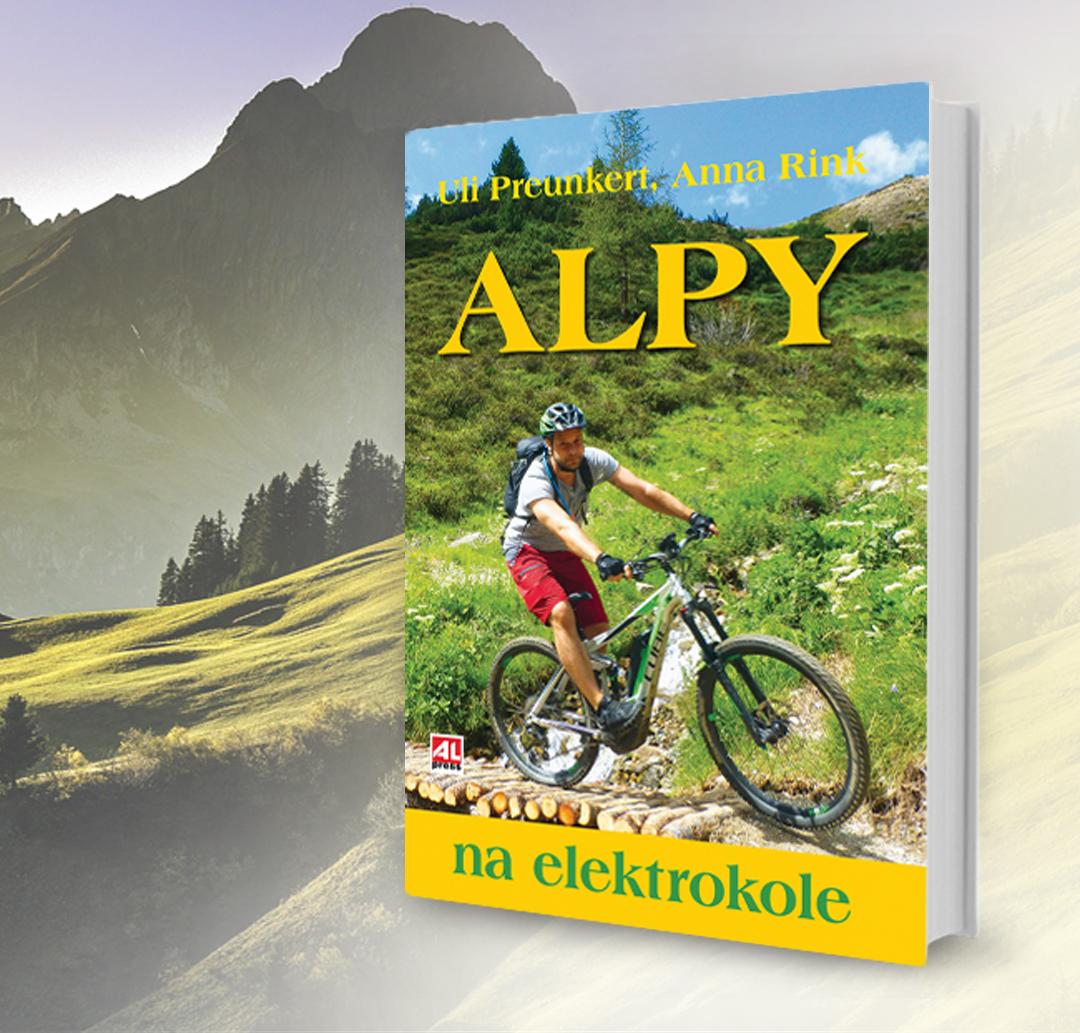Kniha Alpy na elektrokole v našem nakladatelství Alpress